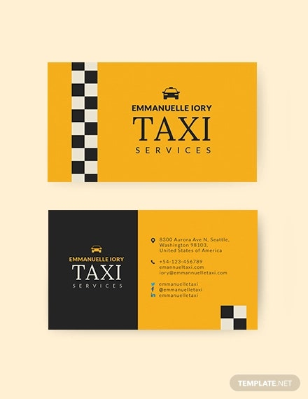 taxi service business card1