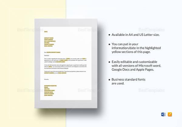 termination-letter-of-future-guarantee-template