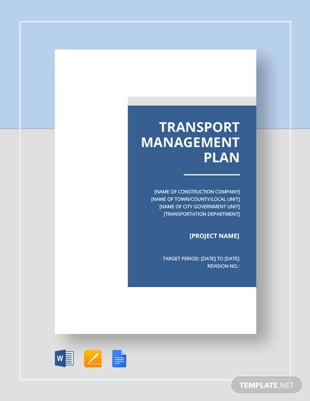 transport management plan template