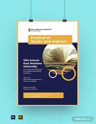 university event poster template