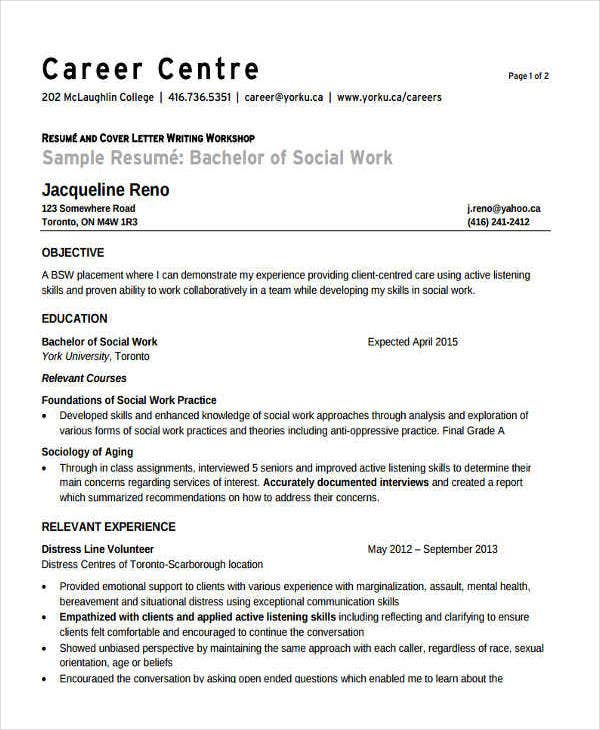 volunteer-social-work-resume