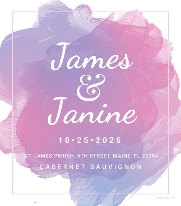 wedding bottle label template