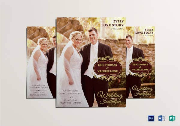 wedding flyer template