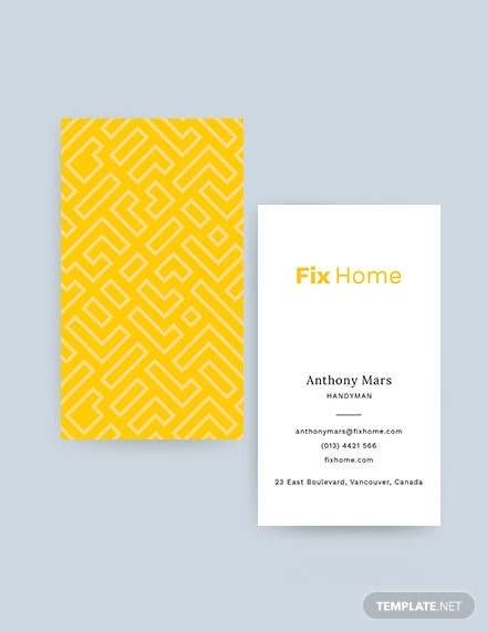 handyman service business card