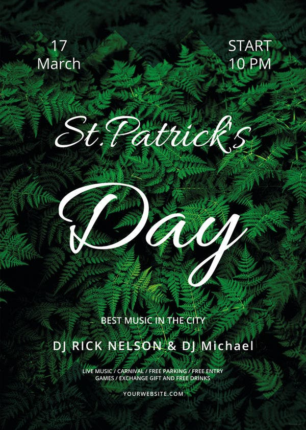 sample st patricks day flyer template