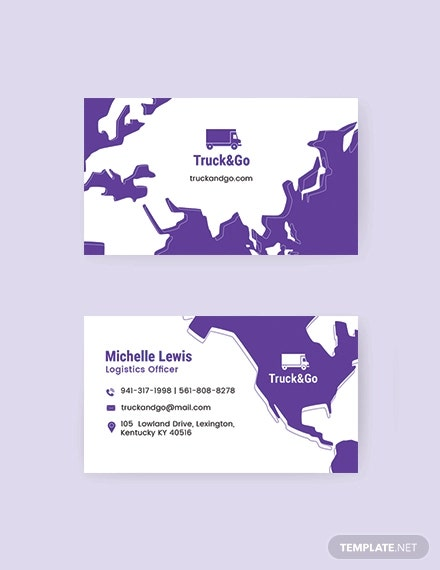 truck trasport business card