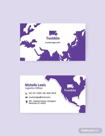 truck trasport business card