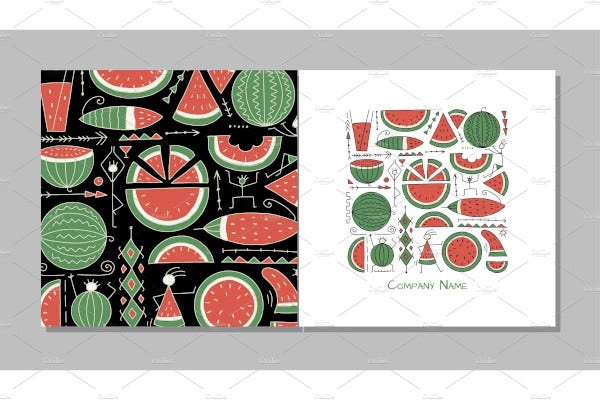 watermelon greeting card design