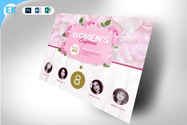 women invitation card