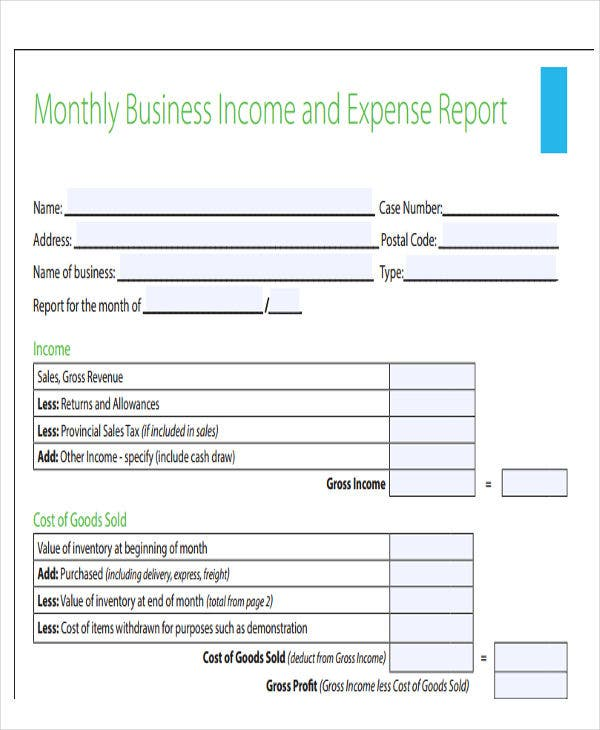 Exceptional Monthly Business Expense