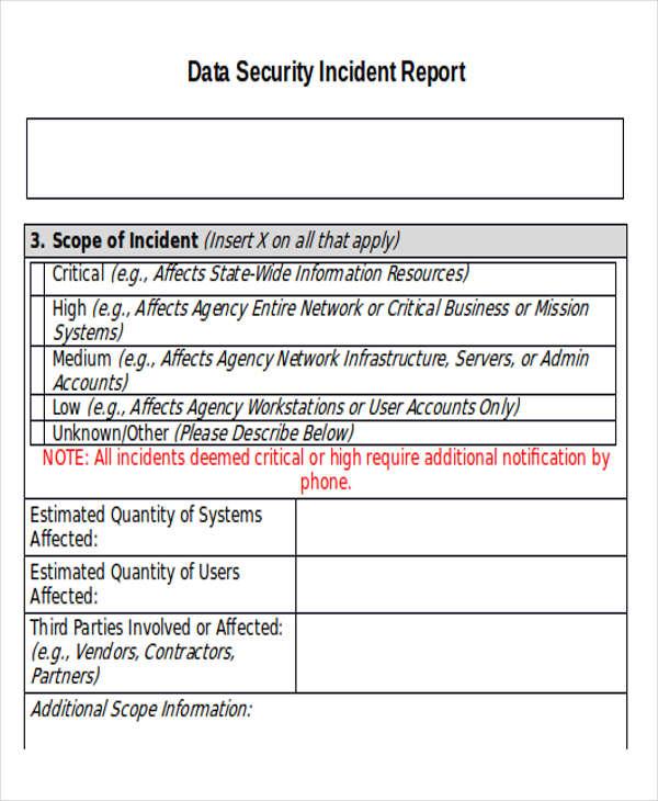 33 incident report templates free premium templates. Black Bedroom Furniture Sets. Home Design Ideas