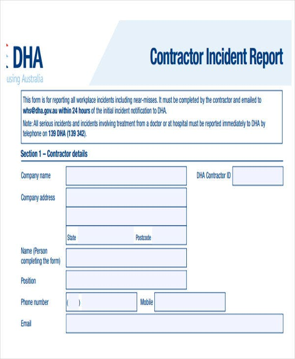 construction safety incident report