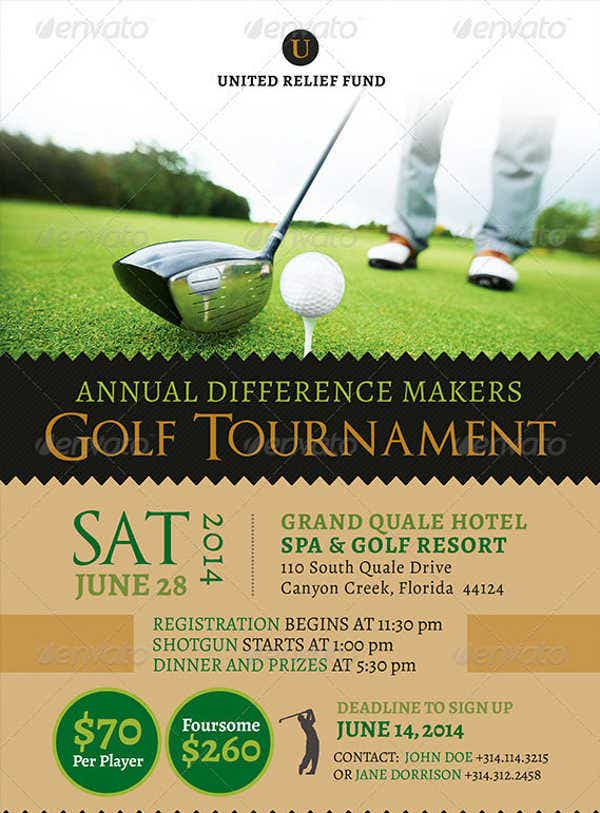 Golf Tournament Event Brochure