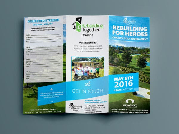 golf-event-tri-fold-brochure