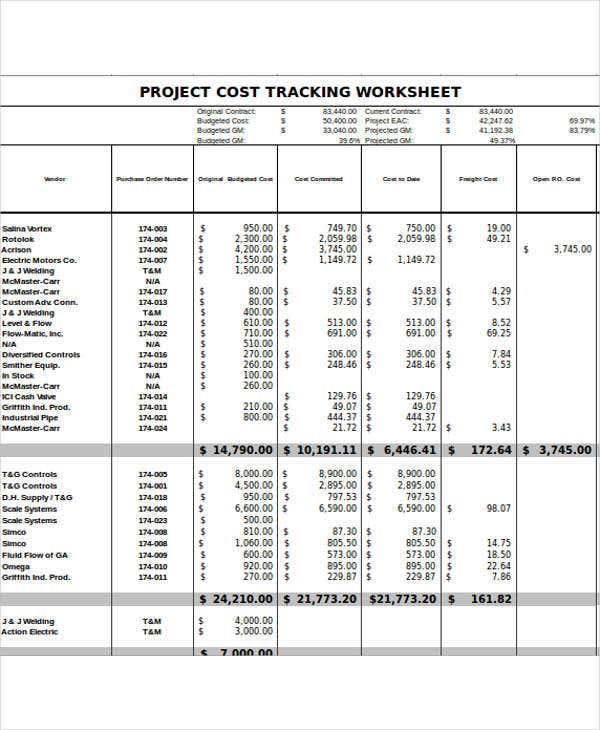 project expense report in excel