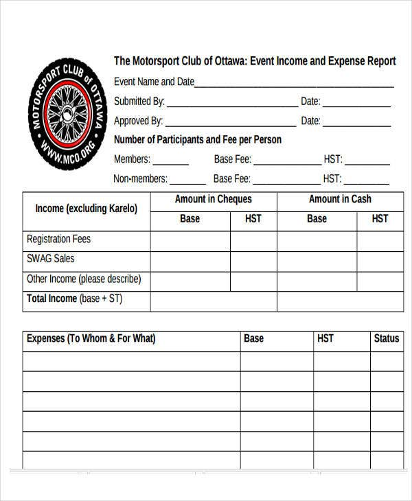 event income and expense report1