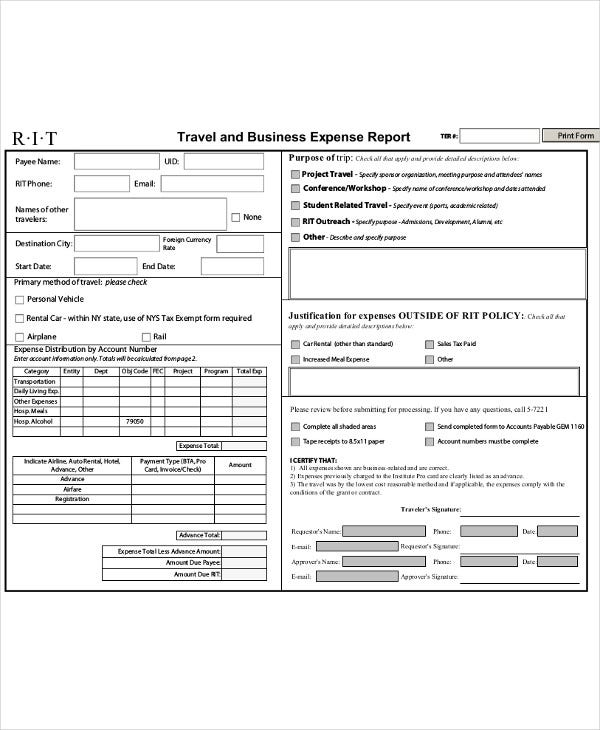 business travel expense report1