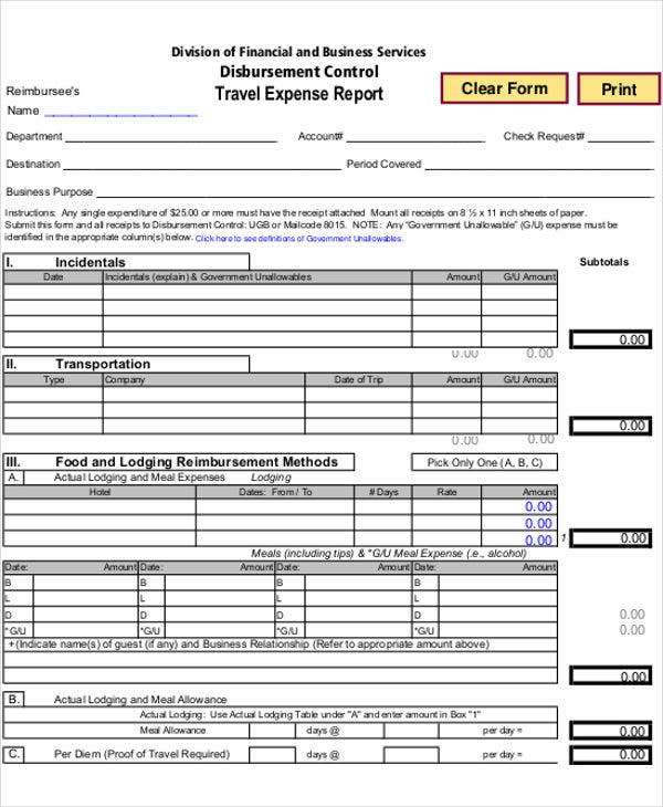 26 expense report samples free premium templates for Business trip expenses template