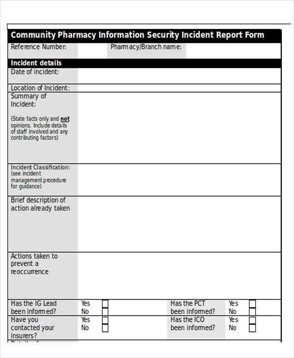 Security incident report template word seven various ways for Incident response procedure template