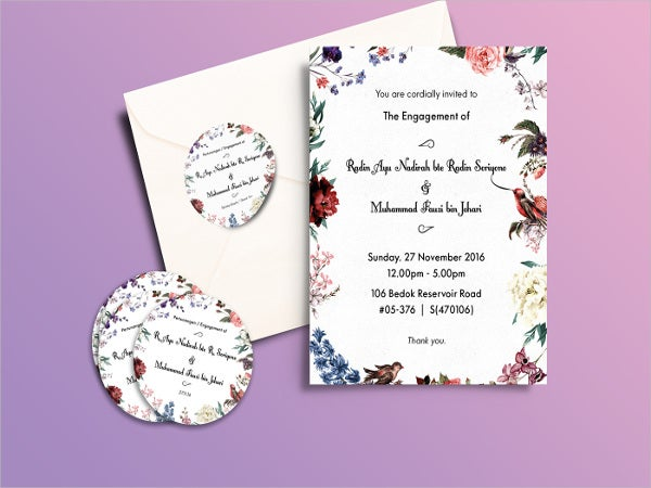 rustic engagement ceremony invitation
