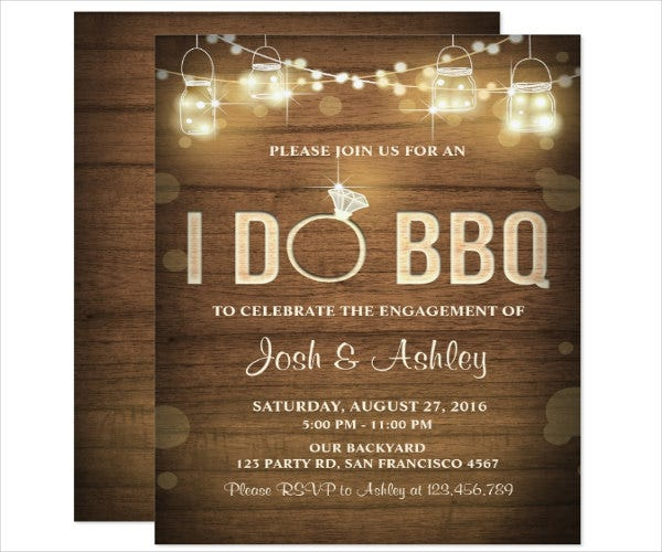 engagement ceremony bbq invitation