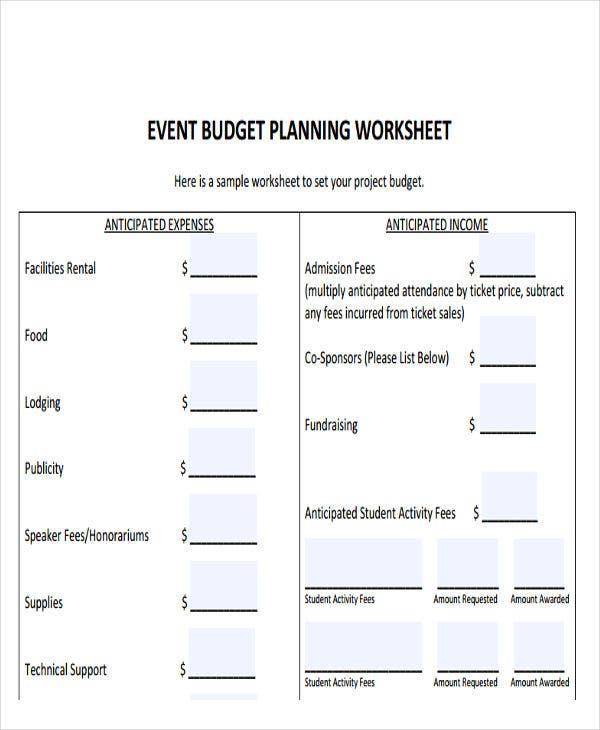 Event-Budget-planning-Report Sample Financial Expense Report on yearly total, business income, quicken income, for reimbursement, completed business, healthcare revenue,