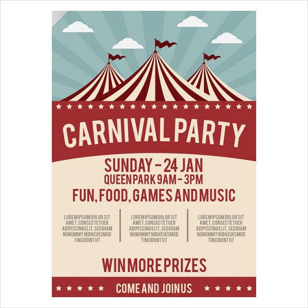food carnival event brochure