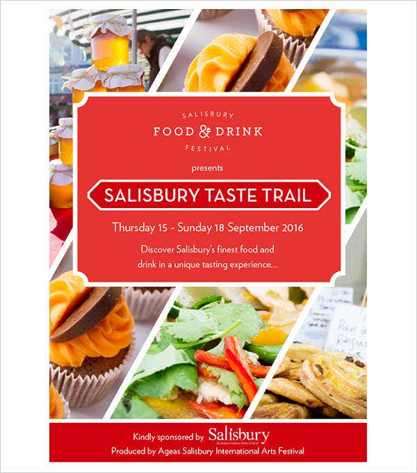 food and drink event brochure