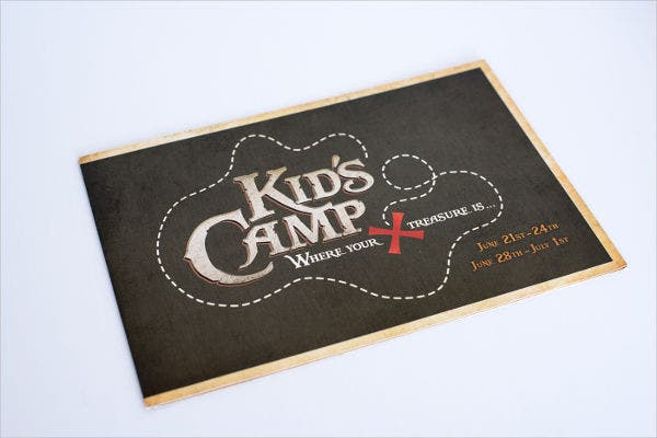 kids camp special event brochure