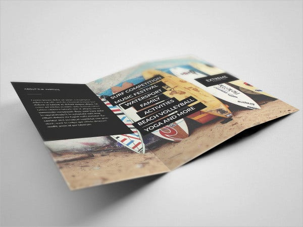 special event tri fold brochure