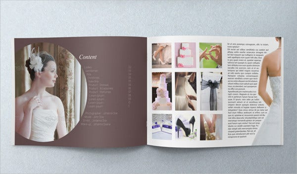 wedding event indesign brochure