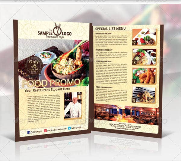 hotel event promotion brochure