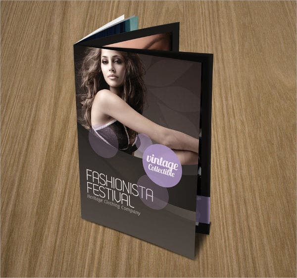 fashion event brochure layout
