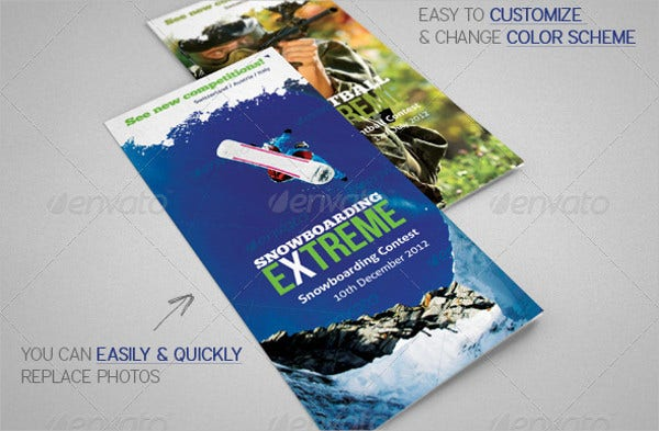 extreme sports event brochure