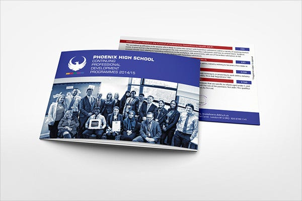 school training event brochure