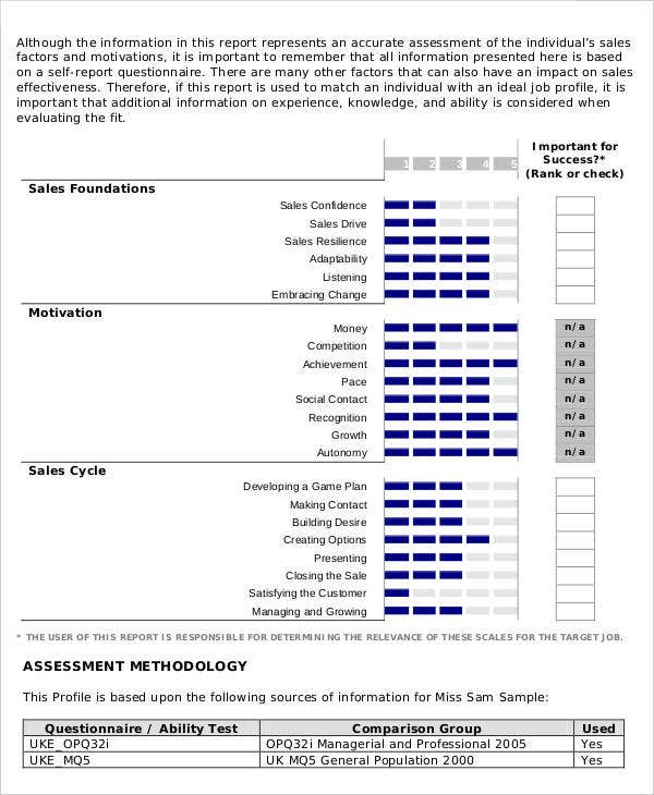 sales skills assessment template - 15 sales report templates in pdf free premium templates