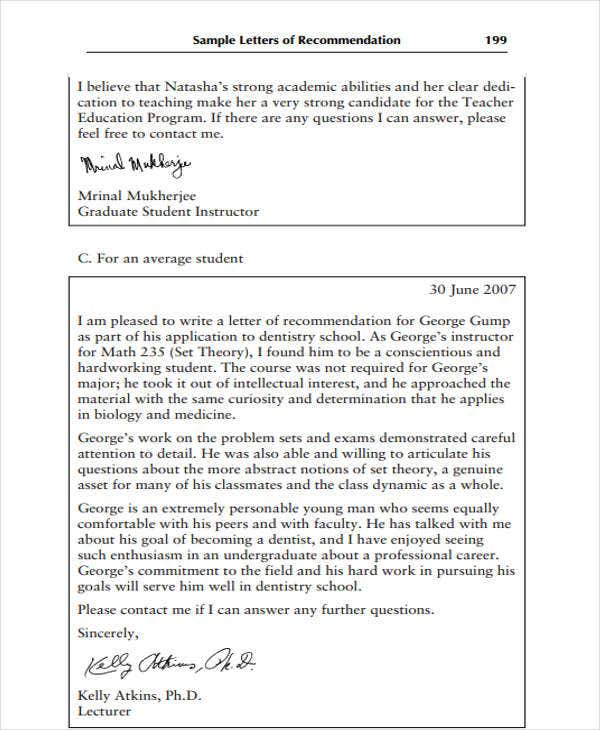 High School Recommendation Letter Template   Free Word Pdf
