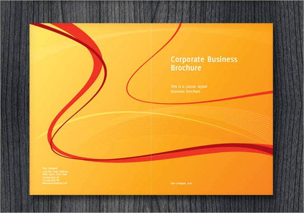half fold corporate business brochure