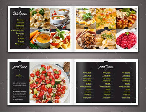 food restaurant menu brochure