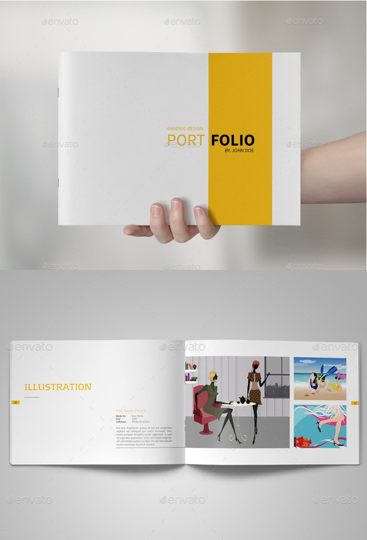Portfolio design to inspire 24 design templates to for Graphic designer portfolio template free download