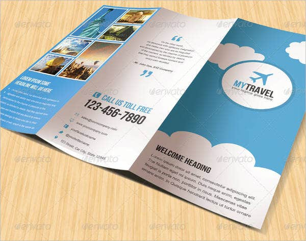 travel business holiday brochure