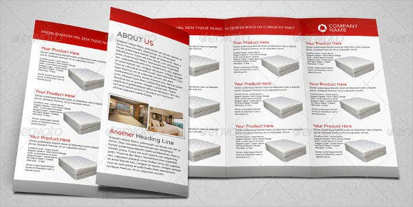 product sale promotion trifold brochure