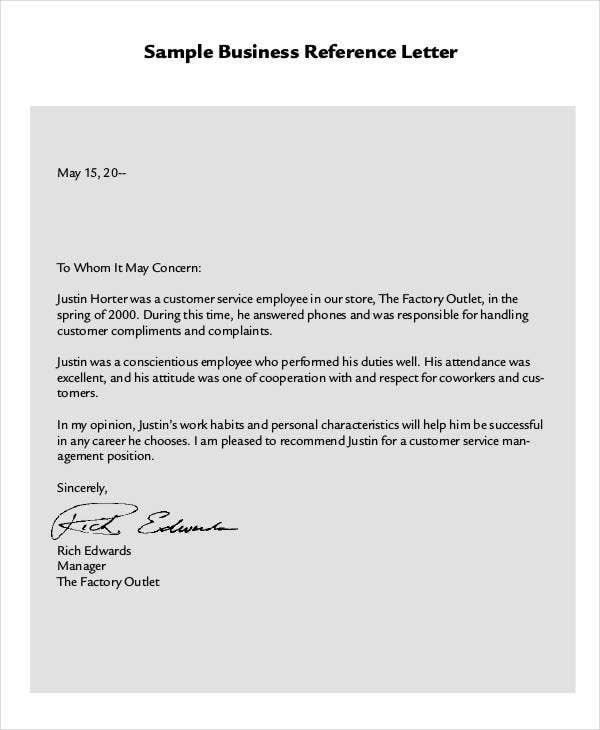 Business Reference Letter Examples from images.template.net