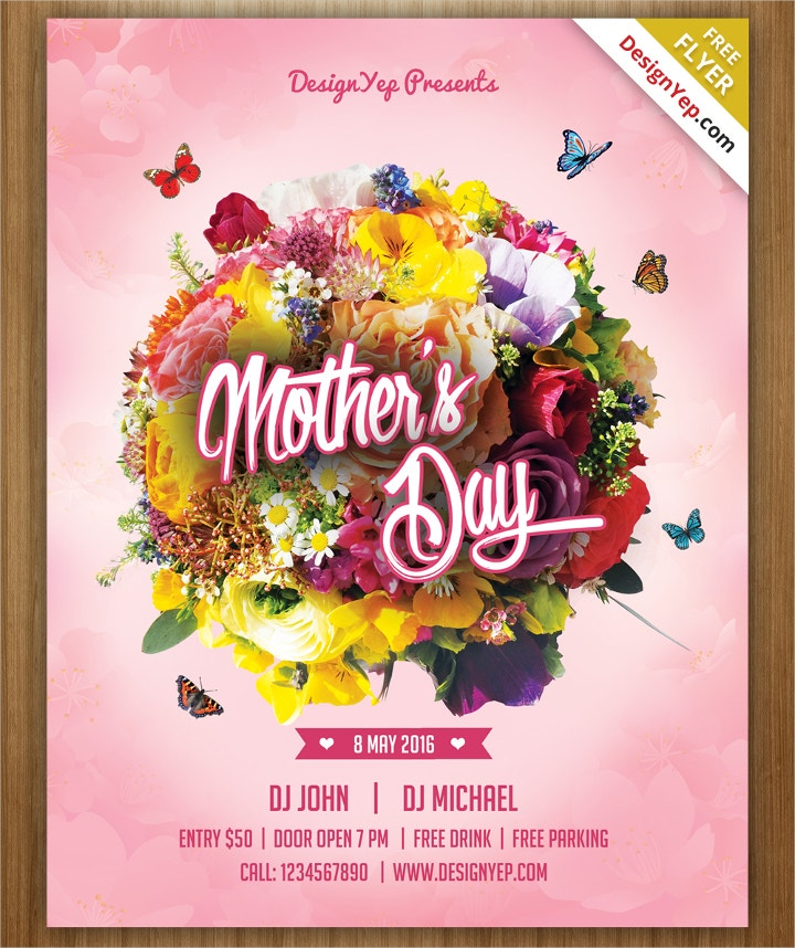 mothers day psd flyer
