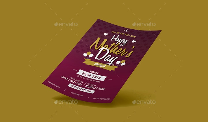 modern mother day flyer