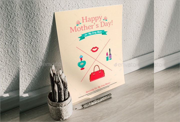 retro style mothers day greeting card1
