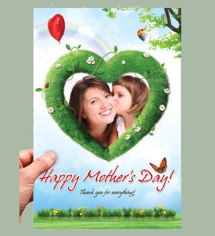 digital painting mothers day greeting card