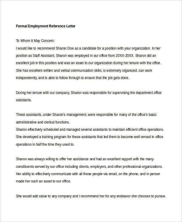 formal employment reference letter1