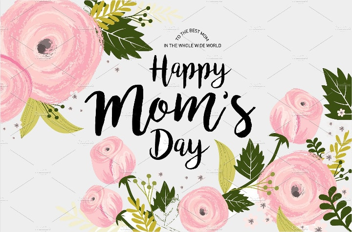 mothers day vector template
