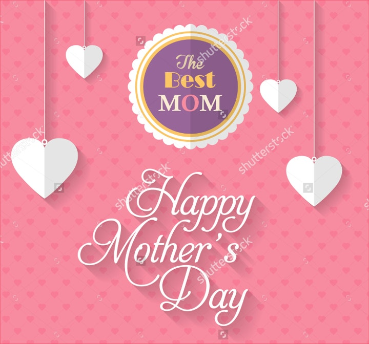 happy mothers day vector design